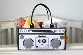 Bumbox boombox inspired diaper bag